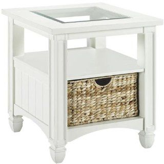 Nantucket Side End Table, END, WEATHERED WHITE