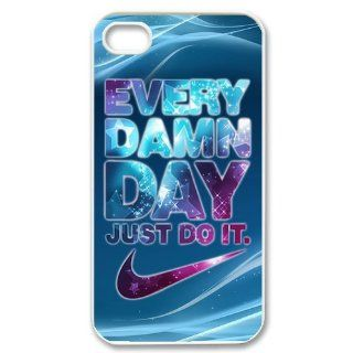 Hcasecove Creative Every Damn Day Just Do It Hard Plastic Cover Case for Apple Iphone4&4s HC 4 Cell Phones & Accessories