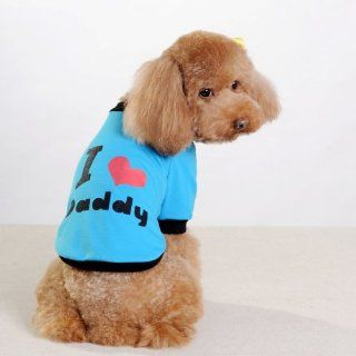 CheePet Pet Clothes I LOVE MY DADDY Dog T Shirt XL size, Excellent gift for dogs and dog lovers  Dog Sweater Daddy Girl