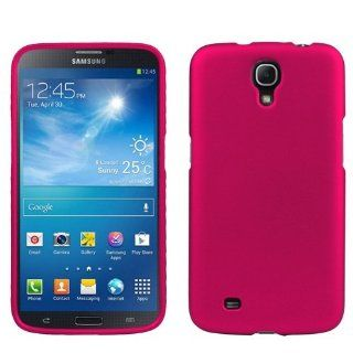 Magenta Pink Hard Shell Case Shield Cover + ATOM LED Keychain Light for Samsung Galaxy Mega (AT&T) Cell Phones & Accessories