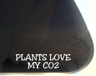 "Plants love my CO2   8"" x 2 1/2""   funny die cut vinyl decal / sticker for window, truck, car, laptop, etc Automotive"
