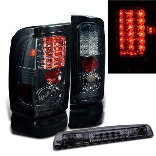 Rxmotoring 1995 Dodge Ram 2500 Tail Lights Led + Third Brake Light Lamps Automotive
