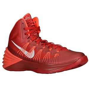 Nike Hyperdunk 2013   Womens   Basketball   Shoes   Gym Red/Metallic Silver