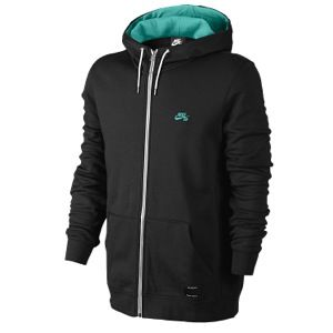 Nike SB Icon Full Zip Hoodie   Mens   Casual   Clothing   Black/Crystal Mint