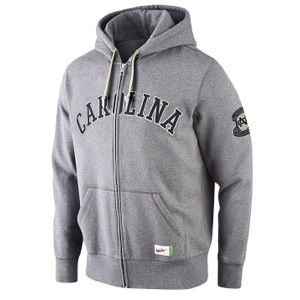 Nike College Vault Old School FZ Hoodie   Mens   Basketball   Clothing   North Carolina Tar Heels   Charcoal Heather