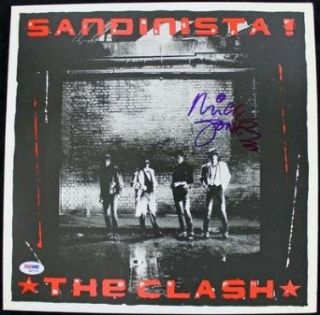 Mick Jones The Clash Sandinista Signed Album Cover W/ Vinyl Psa/dna #q51574   Autographed CD's Entertainment Collectibles