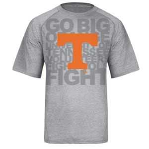 adidas College Climalite Big Logo T Shirt   Mens   Basketball   Clothing   Tennessee Volunteers   Grey