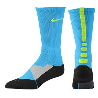 Nike Hyper Elite Basketball Crew Socks   Mens   Basketball   Accessories   Vivid Blue/Black/Volt