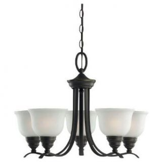 Sea Gull Lighting 31626BLE 782 Five Light Up Lighting Energy Star Chandelier from the Wheaton Collection, Heirloom Bronze