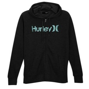 Hurley One & Only FZ Hoodie   Mens   Casual   Clothing   Heather Black