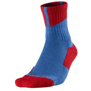 Jordan AJ Dri Fit High Quarter Socks   Basketball   Accessories   Fire Red/True Blue/White