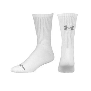 Under Armour Charged Cotton Crew 6PK Socks   Mens   Training   Accessories   White