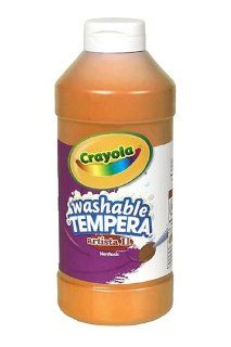 16 Pack CRAYOLA LLC FORMERLY BINNEY & SMITH TEMPERA PAINT 16 OZ ORANGE