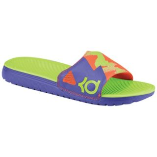 Nike KD Slide   Mens   Casual   Shoes   Court Purple/Light Crimson/Electric Green