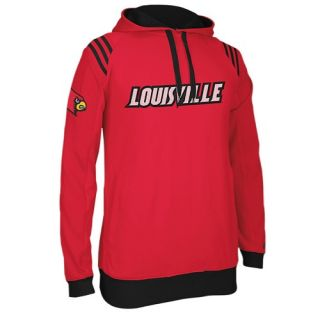 adidas College 3 Stripe Pullover Hoodie   Mens   Basketball   Clothing   Louisville Cardinals   Red