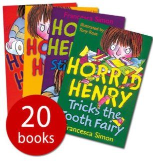 Horrid Henry Box set 20 books (Horrid Henry / Secret Club / Horrid Henry's Nits / Tricks the Tooth Fairy / Gets Rich Quick / Haunted House / Mummy's Curse / Revenge / bogey Babysitter / Stink bomb / Underpants / Meets the Queen / Mega Mean Time M