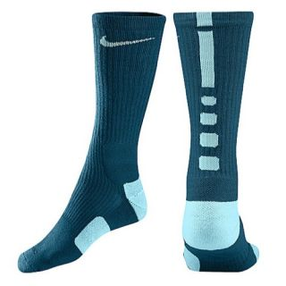 Nike Elite Basketball Crew Socks   Mens   Basketball   Accessories   Green Abyss/Glacier Ice