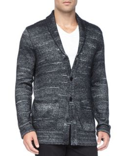 Mens Shawl Collar Cardigan, Black   John Varvatos Star USA   Black (MEDIUM)