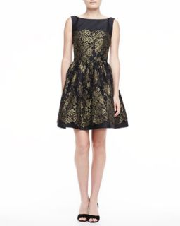 Womens Sleeveless Lace Dress with Full Skirt   ML Monique Lhuillier