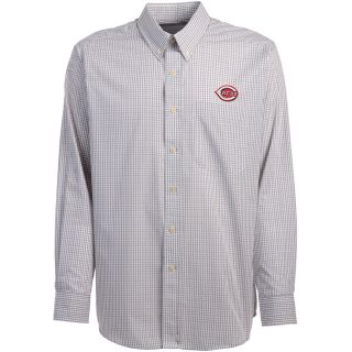 Antigua Cincinnati Reds Mens Monarch Long Sleeve Dress Shirt   Size Large,