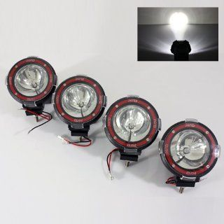 "4 x 6000K White Built in 35W HID Kit 4"" SUV/ATV/Truck/Pickup/4x4 Jeep Off Road Lights Fog Lamps Automotive"