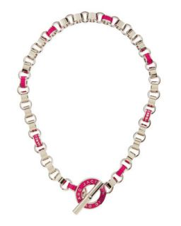 Enamel Toggle Necklace, Pink   MARC by Marc Jacobs   Poppink