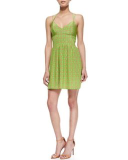 Womens Whenever Octagon Print Sundress, Green/Pink   Amanda Uprichard   Green