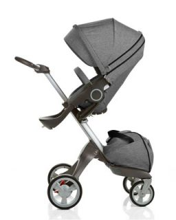 Xplory Adjustable Height Stroller, Black Melange   Stokke   Black