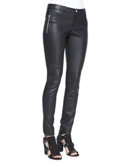 Womens Wheeler Leather Pants   Rebecca Minkoff   Black (8)