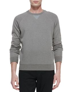 Mens Long Sleeve Crewneck Sweatshirt, Natural   Vince   Natural (SMALL)