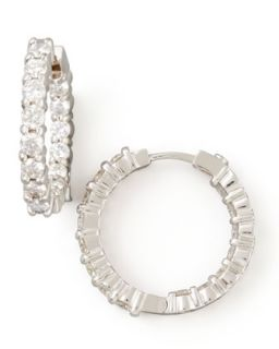 23mm White Gold Diamond Hoop Earrings, 1.97ct   Roberto Coin   White (23mm ,7ct