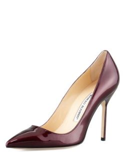 BB Liquid Patent Point Toe Pump, Wine   Manolo Blahnik   Wine (7 1/2 B)