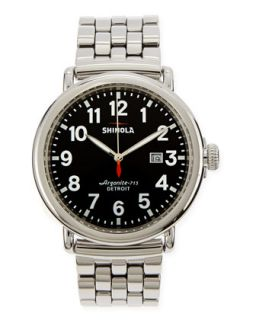 47mm Runwell Mens Watch, Stainless Steel/Black Dial   Shinola   Steel (47mm ,