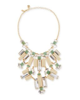 crystal/wood statement bib necklace   kate spade new york   Multi colors