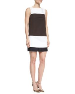 Womens colorblock bicolor shift dress   kate spade new york   Frsh wht btrswt