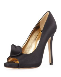 collana satin heart pump, black   kate spade new york   Black (39.0B/9.0B)