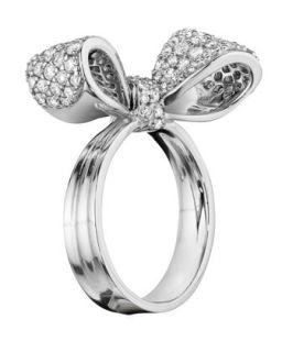 Bow Small 18k White Gold Diamond Ring   Mimi So   White (6)