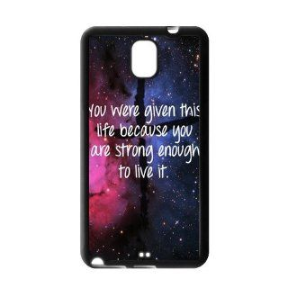 Vcapk Starry Sky Cross Blue Rose Red Universe life Quote Custome Phone Case for Samsung Galaxy Note 3 N900 BackTPU Side Silicon Cell Phones & Accessories