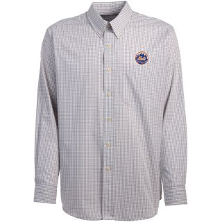Antigua New York Mets Mens Monarch Long Sleeve Dress Shirt   Size Large,