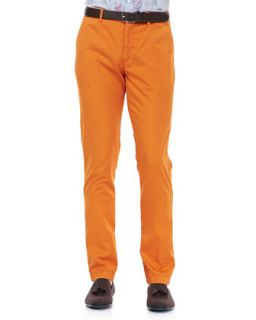 Mens Cotton Gabardine Pants, Orange   Etro   Orange (50)