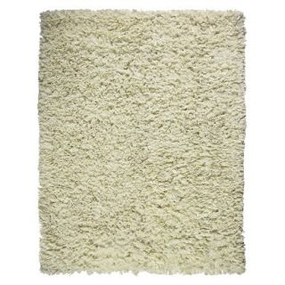 Recycle Paper Shag Area Rug   Ivory (5x8)