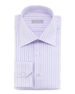 Mens Tonal Stripe Dress Shirt, Lavender   Stefano Ricci   Lavender (16 1/2)