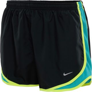 NIKE Womens Tempo Running Shorts   Size Medium, Black/turbo