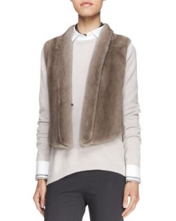 Womens Tulip Back Mink Vest   Brunello Cucinelli   Dove (44/8)