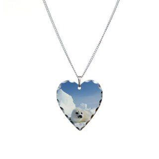 Necklace Heart Charm Harp Seal Artsmith Inc Jewelry