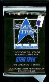 1991 Star Trek 25th Anniversary Series II Trading Card Pack   12 cards per pack Entertainment Collectibles