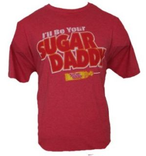"Sugar Daddy Mens T Shirt   ""I'll Be Sugar Daddy"" Image (XX Large) Red Clothing"