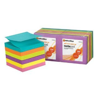 "OfficeMax 3"" x 3"" Brite Self Stick Pop up Notes, 12/pk  Telephone Message Pads"