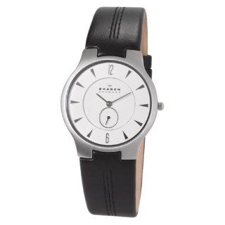 Skagen Men's 433LSLC Black Leather Watch Skagen Watches
