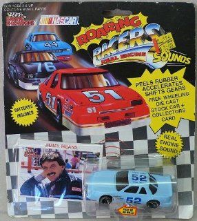 "Racing Champions   1991   ""Roaring Racers""   No. 52   Jimmy Means   164 Scale Die Cast Replica Race Car and Collector Card   NASCAR"